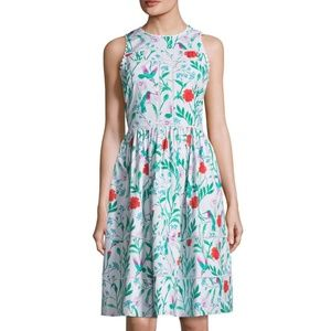 Kate Spade Jardin Floral Poplin Dress